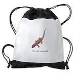 plays-with-salamand... Drawstring Bag