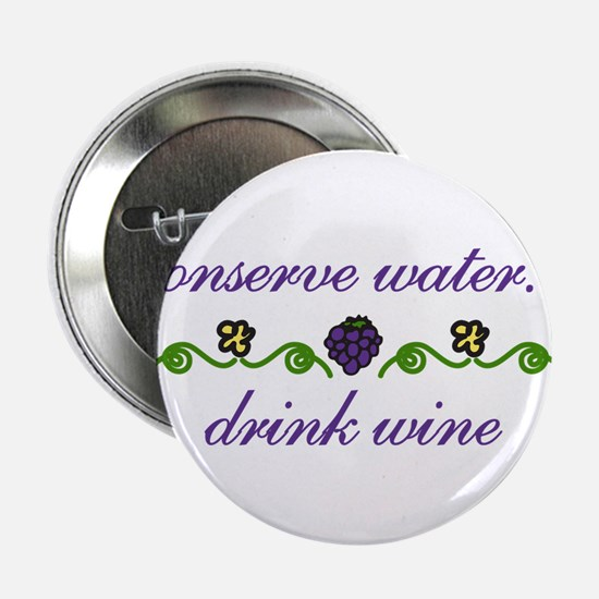 "Conserve Water 2.25"" Button"