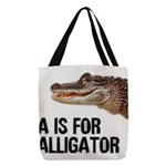 a-is-for-alligator Polyester Tote Bag