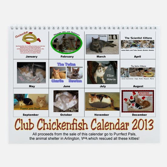 Club Chickenfish Wall Calendar 2013