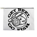 FIN-get-reel-go-fish-black Makeup Pouch