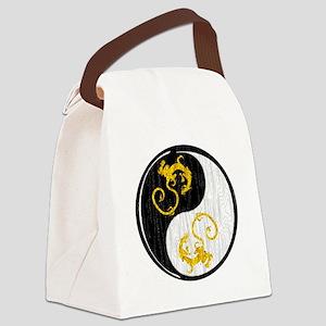 Golden Dragon Yin Yang Canvas Lunch Bag