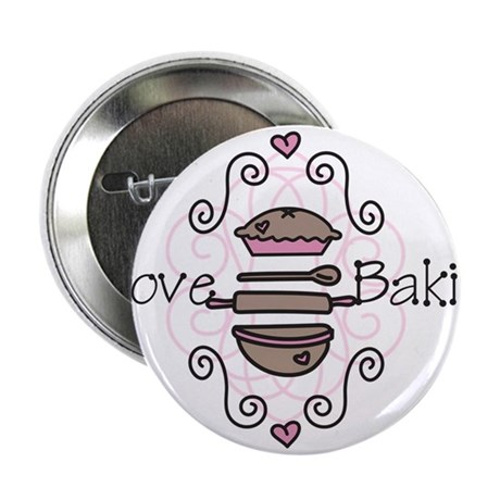 "I Love Baking 2.25"" Button"