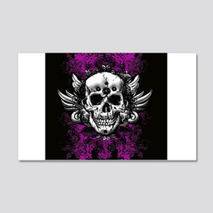 Grunge Skull 20x12 Wall Decal