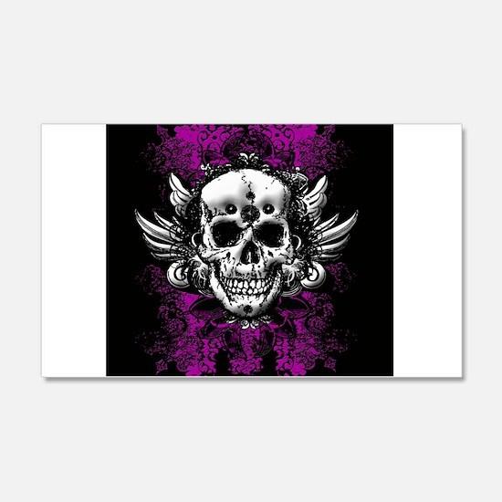 Grunge Skull Wall Decal