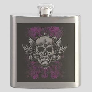 Grunge Skull Flask