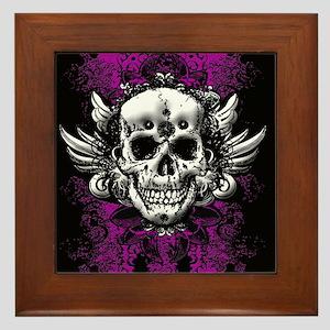 Grunge Skull Framed Tile