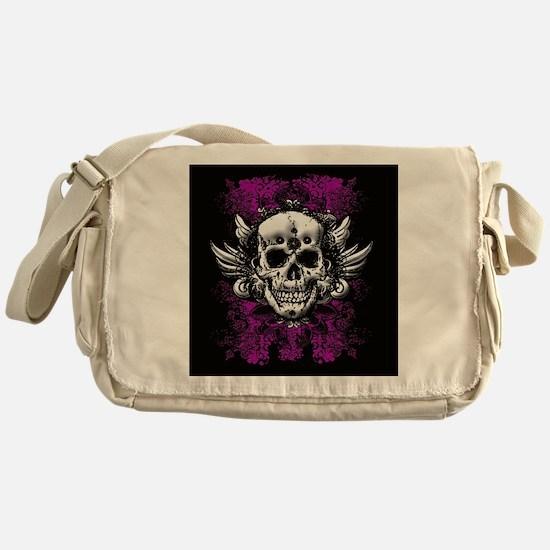 Grunge Skull Messenger Bag