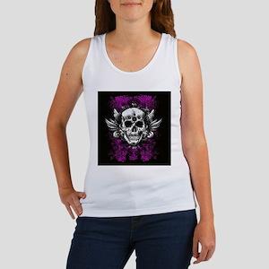 Grunge Skull Women's Tank Top