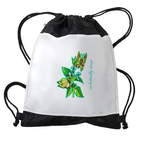butterfly-2 Drawstring Bag