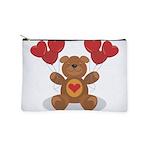 FIN-teddy-bear-hearts Makeup Pouch