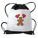 FIN-teddy-bear-hearts Drawstring Bag