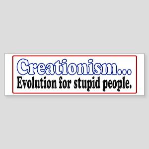 Stupid Creationism Bumper Sticker