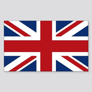 United Kingdom Union Jack Flag Sticker (Rectangle)