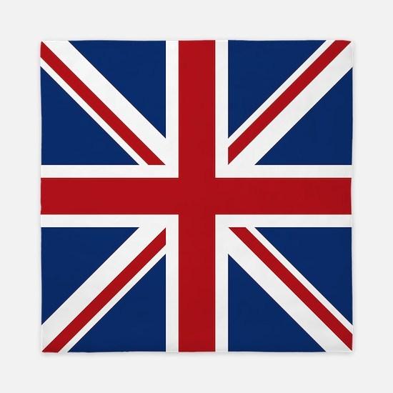 Cute Uk flag Queen Duvet