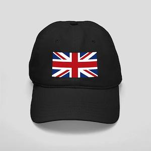 United Kingdom Union Jack Flag Black Cap
