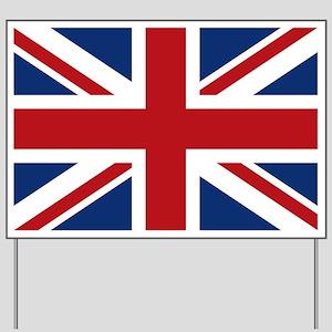 United Kingdom Union Jack Flag Yard Sign