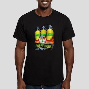 Premium Scuba Breathing Men's Fitted T-Shirt (dark