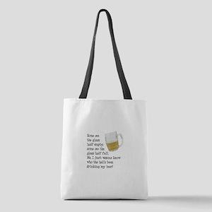 FIN-glass-half-full Polyester Tote Bag