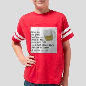 FIN-glass-half-full Youth Football Shirt