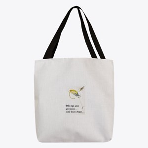 FIN-lemon-drops.png Polyester Tote Bag