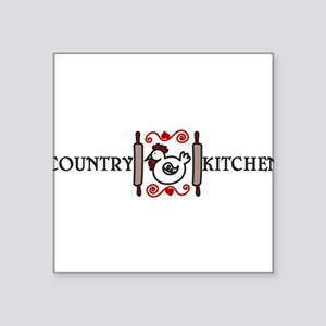 "Country Kitchen Square Sticker 3"" x 3"""