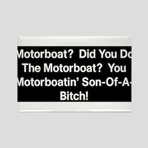 Motorboat T-Shirt Rectangle Magnet