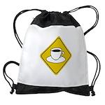 coffee-crossing-sig... Drawstring Bag