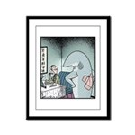 Angry Fin-less Shark Framed Panel Print