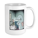 Angry Fin-less Shark Large Mug