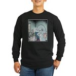 Angry Fin-less Shark Long Sleeve Dark T-Shirt