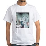 Angry Fin-less Shark White T-Shirt