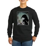 Angry Minke Whale Long Sleeve Dark T-Shirt