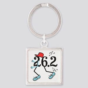 Funny Marathoner 26.2 Square Keychain