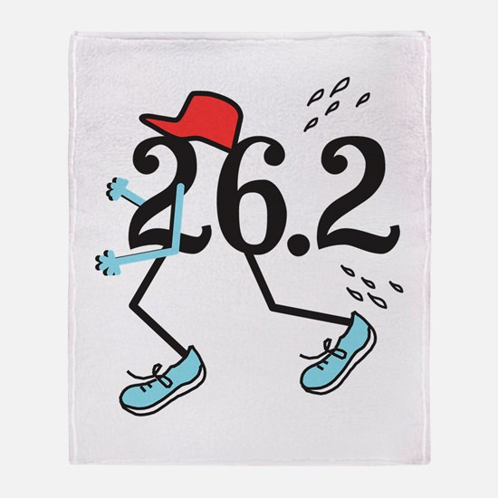 Funny Marathoner 26.2 Throw Blanket