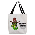 Tequila Humor Polyester Tote Bag