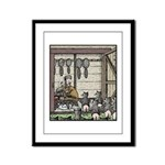 Angry Racoons Framed Panel Print