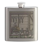 Angry Racoons Flask