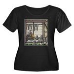 Angry Racoons Women's Plus Size Scoop Neck Dark T-