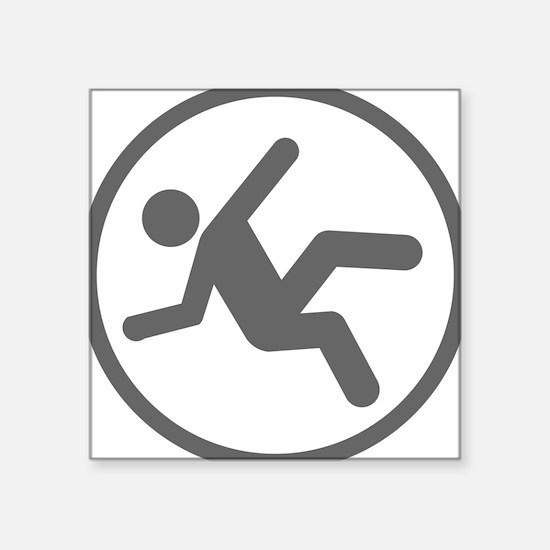 """Funny Daredevil Clumsy Shirt Square Sticker 3"""" x 3"""