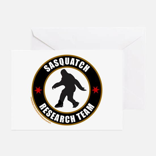 SASQUATCH RESEARCH TEAM Greeting Cards (Pk of 10)