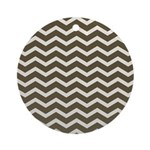 Brown Cocoa Chevron Ornament (Round)