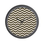 Brown Cocoa Chevron Wall Clock