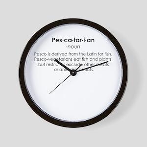 Pescatarian Wall Clock