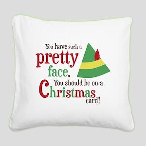 Buddy Elf Pretty Face Square Canvas Pillow