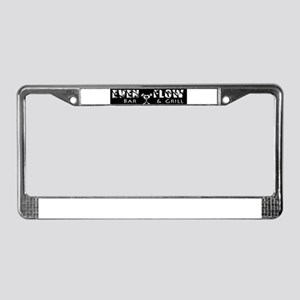 Even Flow Bar and grill License Plate Frame