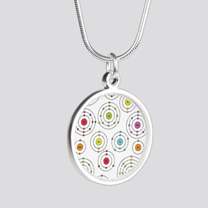 Periodic Shells Silver Round Necklace
