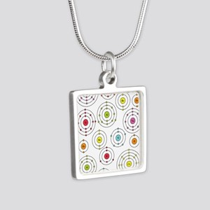 Periodic Shells Silver Square Necklace