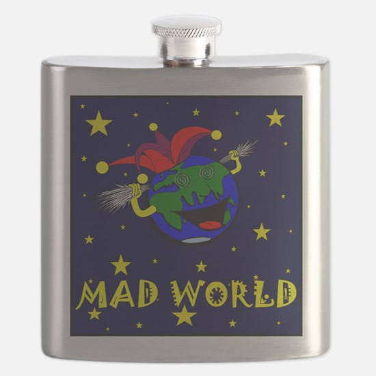 Mad World Hip Flask