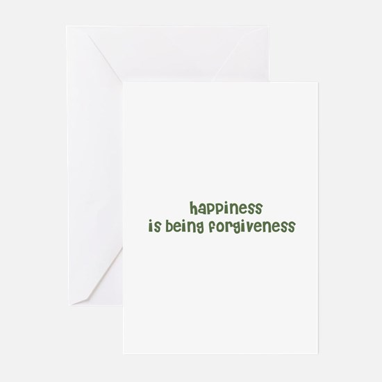 happiness is being forgivene Greeting Cards (Pack